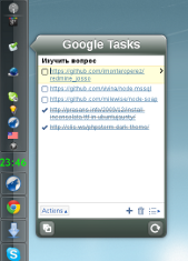 Google Tasks in systray